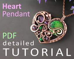 mirraling offers mostly finished jewelry but she does have a splendid tutorial for a wire wrapped heart done in her style
