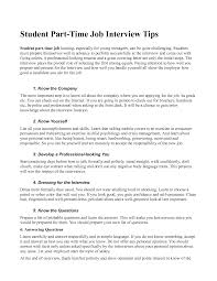 Remarkable Part Time Work Resume Template For Cover Letter For