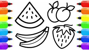 Sizable Fruit Coloring Pages Autumn Fruits Page Free Printable Fruit
