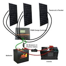 solar installation diagrams off grid pwm charge controller