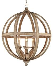 y decor lz32254 modern transitional traditional 4 light wood orb chandelier by wood orb chandelier m3