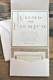 Wedding Invitation Folder Bronson Wedding Invitation Large Pocketfold With Ribbon Tie