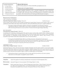 Security Officer Resume Pdf Campus Security Officer Resume Jk