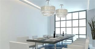 contemporary dining room shaded crystal chandelier fixture table lamp height chandeliers