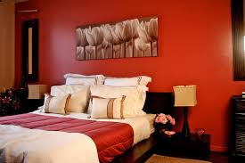 Orange And Pink Bedroom Color Designs For Bedrooms With Romantic Pink Flower In Orange