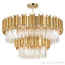 led clear k9 crystal and gold light stand ceiling lights fixture lamps chandeliers pendant lights lighting with led bulbs modern chandelier lighting