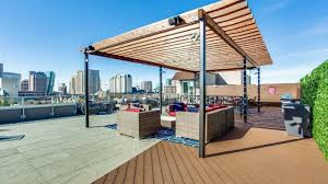 ... Impressive Rooftop Lounge with Firepit and Television+ ...