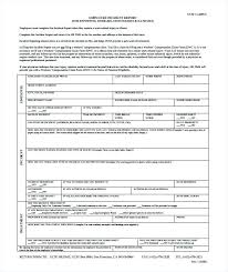 Employee Incident Report Format Form Template Doc Kennyyoung