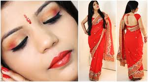 how to do indian party makeup and wear saree superprincessjo you