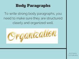 elements of an essay body paragraphs o x f o r d t u t o r i n g body paragraphs 3