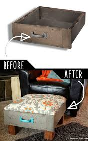 diy living room furniture. 4.Foot Rest From Old Drawers Diy Living Room Furniture E