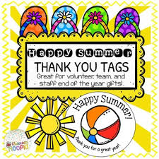 Summer Gift Tags End Of Year Happy Summer Gift Tags Editable