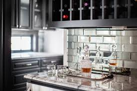 mirrored subway tiles warm beveled contemporary kitchen marie throughout pertaining to 9