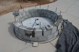 round cinder block fire pit