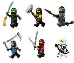 The LEGO Ninjago Movie Minifigure Combo Pack - Lloyd, Cole, Kai, Jay, Zane,  and Nya (with Weapons)- Buy Online in Bermuda at bermuda.desertcart.com.  ProductId : 66623357.