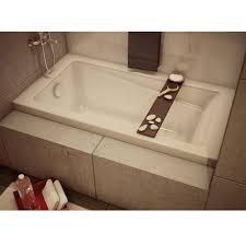 new town drop in bathtub left hand drain