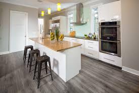 reclaimed ash laminate in kitchen