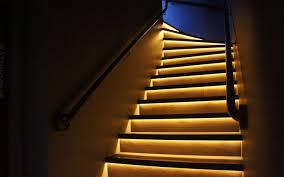 stair lighting led. Lighting Stairs. Strip Light Stairs U Stair Led