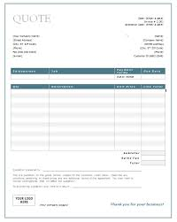 price quotation format doc word quote template free quotation templates estimate