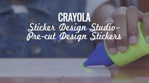 Sticker Design Studio Crayola Crayola Sticker Design Studio Pre Cut Design Stickers Demo