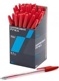 """<b>Hatber Ручка шариковая</b> """"T-<b>34</b>"""", красная, 0,7 мм, с колпачком"""