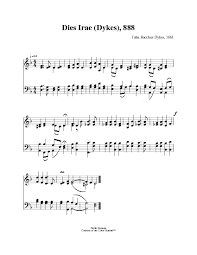 dies irae sheet music day of wrath o day of mourning hymnary org