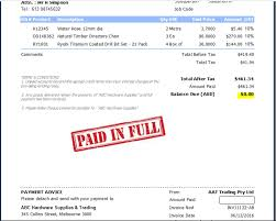 Paid Invoices How to add a PAID or PAID IN FULL stamp to my invoices Ezy Invoice 1