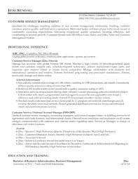 Customer Service Manager Resume Berathen Com