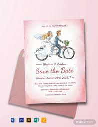 Wedding Invitation With Photo Free Simple Wedding Invitation Template Word Psd