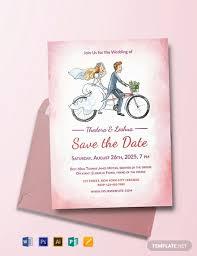 Wedding Invitation Templates With Photo Free Simple Wedding Invitation Template Word Psd