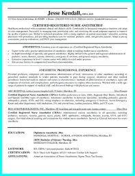 Nurse Anesthetist Resume Certified Registered Nurse Anesthetist Resume Resume Template Sample 47