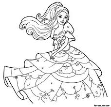 15 Printable Barbie Coloring Pages Print Color Craft