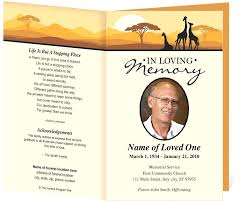Funeral Program Templates Publisher Best Of Free Printable