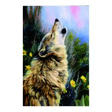 get ations kid garden flag the call howling wolf large indoor outdoor garden decorative all season