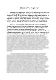 okonkwo a tragic hero essay by winston smith text analysis  okonkwo a tragic hero essay by winston smith moreover okonkwo is one of