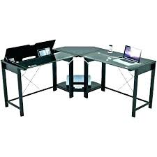 l shaped glass top desk ikea glass