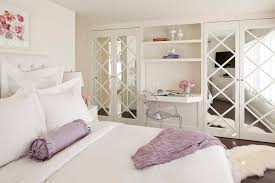 closet door ideas diy bedroom traditional with built in desk contemporary artwork white pillows