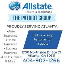 Allstate Car Insurance In Atlanta GA The Patriot Group Adorable All State Quote