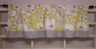 Yellow Gingham Kitchen Curtains Yellow Valances For Kitchen Window Treatments Design Ideas