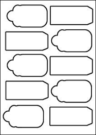 Clipart Gift Tag Template