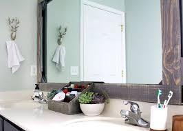 diy bathroom mirror frame. Customize Your Bathroom Mirror With A Rustic Wood Frame! Diy Frame U