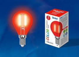 <b>Лампа</b> светодиодная красная <b>LED</b>-<b>G45</b>-<b>5W</b>/<b>RED</b>/<b>E14 GLA02RD</b> ...