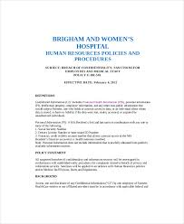 Employee Confidentiality Agreement 10+ Human Resources Confidentiality Agreement Templates – Free ...