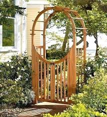 garden arch with gate arches gates wooden wrought iron creative uk picture post