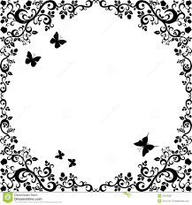 Black And White Vintage Design Vintage Black White Beautiful Illustration Of Floral
