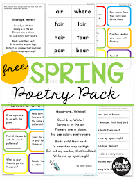 Pocket Chart Poems For Kindergarten Free Spring Poetry Pack For Kids This Reading Mama