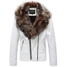 men s slim fit mens slim fit faux fur leather