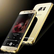samsung galaxy s6 gold case. picture of luxury aluminum ultra thin mirror metal case cover for samsung galaxy s6/ edge s6 gold 2
