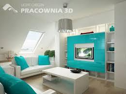 Blue Living Room Design Image Groovy White Light