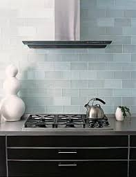 Frosted Sky Blue Glass Subway Tile